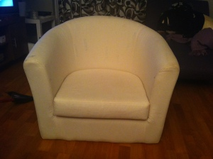IKEA Upholstery Project - Bare Chair