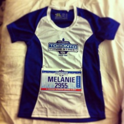 Toronto Yonge Street 10K - Official T-Shirt with my bib