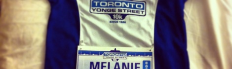 Toronto Yonge Street 10K - Official T-Shirt with my bib