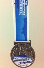 Toronto Yonge Street 10K. Finisher Medal