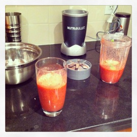 Nutribullet - Strawberry, raspberry, mint, green tea concoction 3