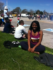 Squinty much? Not my best pic but who cares? I just ran a half-marathon
