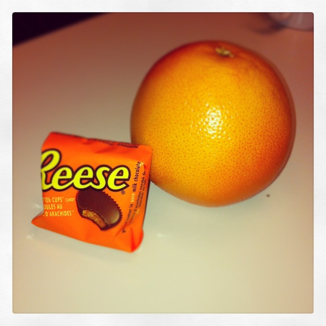 Reese Cup and Grapefruit