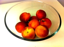 These peaches took 10 days to ripen!