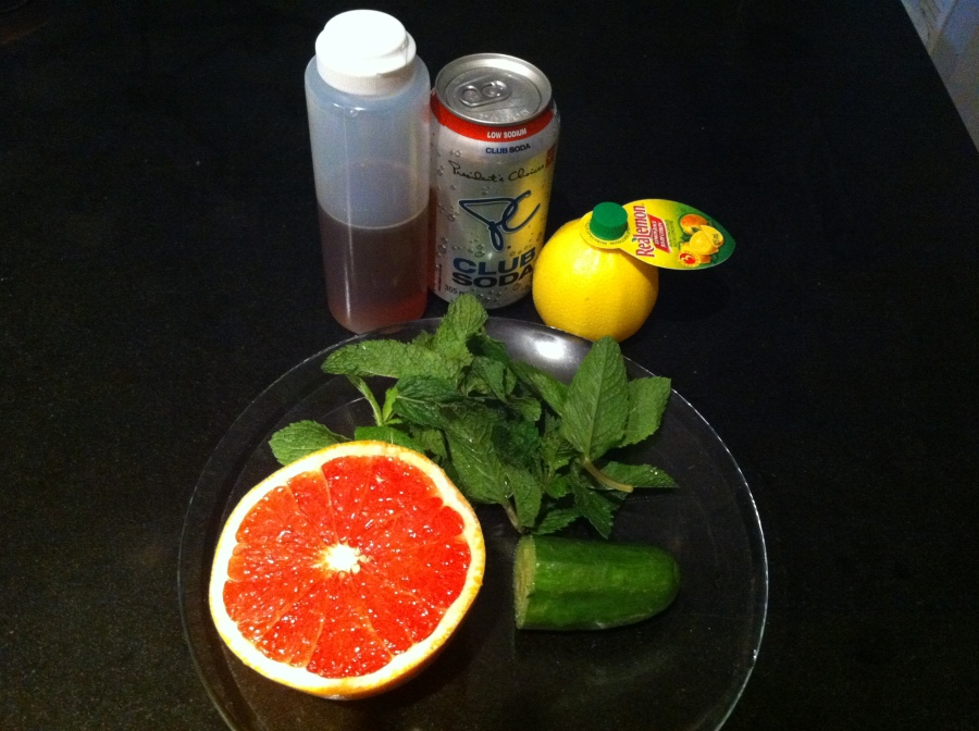 Melanie's Grapefruit Refresher - The Ingredients