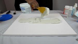 DIY Wall Decor with Drywall Compound - Apply Drywall Compound to the Canvas