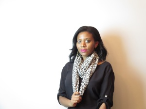 DIY Infinity Scarf - Leopard Print Finished Product