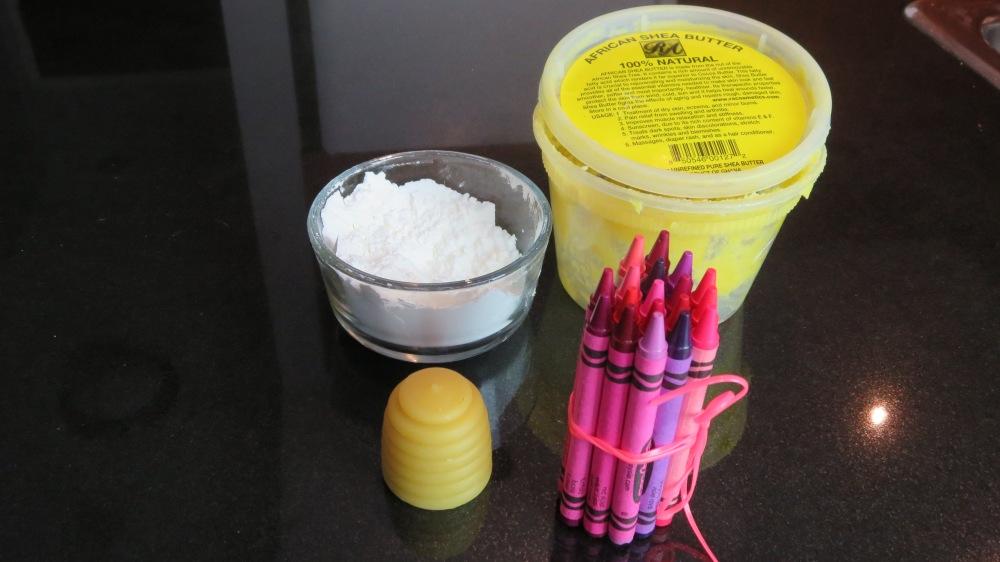DIY Crayon Lipstick - Ingredients